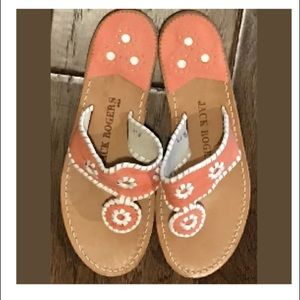 Jack Rogers Coral Sandals Womens Size 8 NWOB